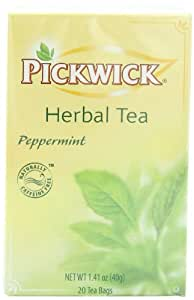 Pickwick Herbal Tea, Peppermint, 20-Count Tea Bags (Pack of 6)
