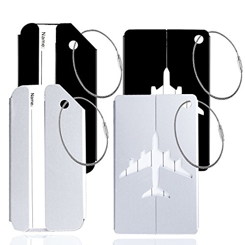 4pcs Metal Luggage Tags Travel Suitcase Baggage Privacy Tags Name Address - Official Email Address