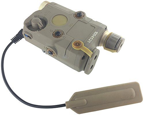 FMA Polymer PEQ-15 Style Battery Box Red Laser Sight + LED Flashligh for AEG Airsoft - Tan