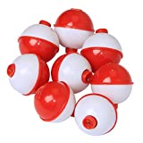 #10: 10pcs-20pcs/lot Fishing Bobbers Snap Hard ABS on Red/white Float Bobbers Push Button Round Buoy Floats Fishing Tackle Accessories Size:1/1.25/1.5/2 Inch