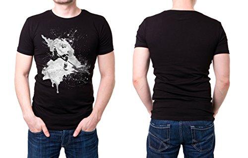 Eishockey_III schwarzes modernes Herren T-Shirt mit stylischen Aufdruck