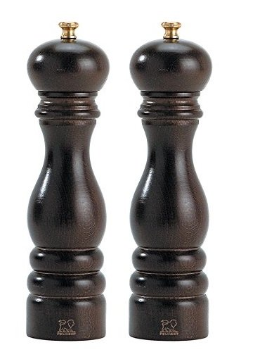 Peugeot Paris Classic 7-Inch Salt & Pepper Mill set, Chocolate - Peugeot Paris Classic Chocolate