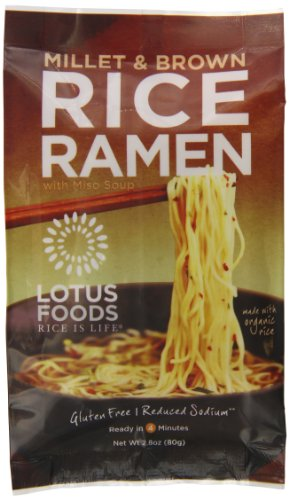 Lotus Foods Rice Ramen Noodles, Millet and Brown Rice with Miso Soup, 10 Count (Rice Noodle Ramen compare prices)