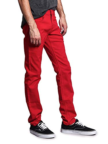 Victorious Men's Skinny Fit Color Stretch Jeans