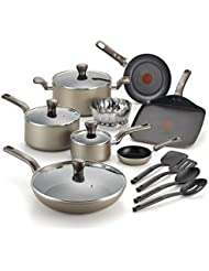 T-Fal Culinaire Champagne 16 Piece Cookware Set