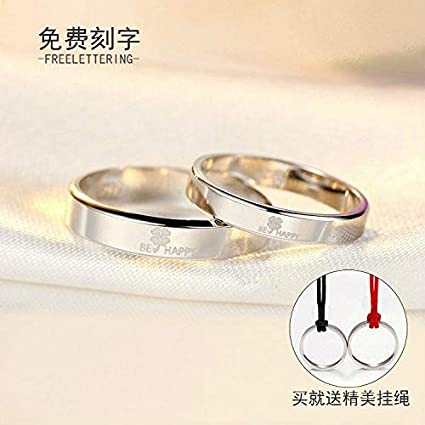 794650cd591c0 Amazon.com: Clover s925 Sterling Silver Rings Women Girls Couple ...
