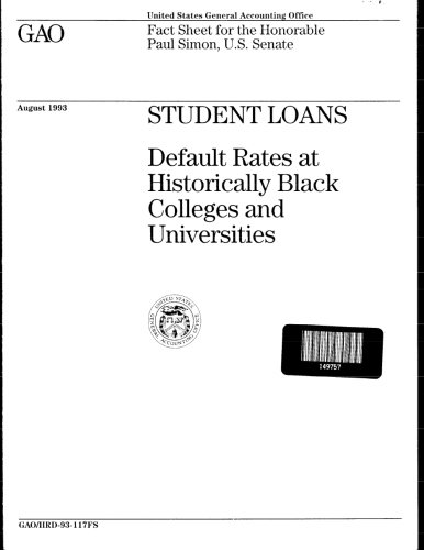 Search : Student Loans: Default Rates at Historically Black Colleges and Universities