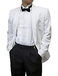 Men's Adjustable Black Tuxedo Pants with Satin Stripe