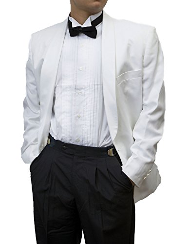 Men's Adjustable Black Tuxedo Pants with Satin Stripe By Broadway Tuxmakers - And Broadway 42