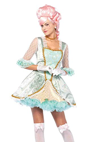 Marie Antoinette Outfits (3pc. Deluxe Marie Antoinette Rosette Brocade Costume Bundle with Pink Shorts)