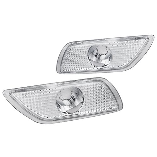 Ford Focus Replacement Chrome Clear Bumper Signal Lamps Fog Lights Left+Right (Fog Euro Clear Light Lamp)