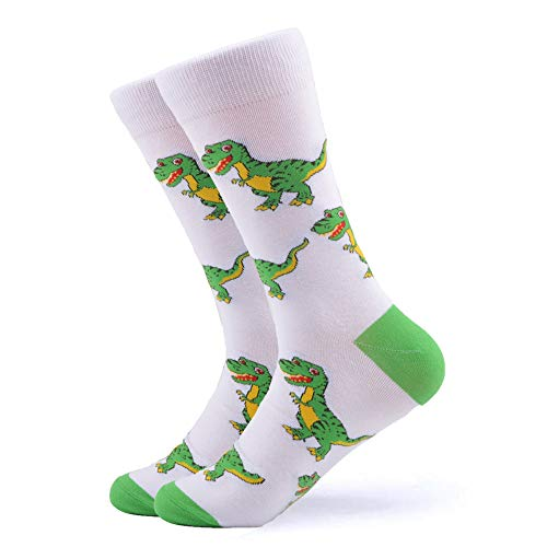 WeciBor Men's Dress Cool Colorful Fancy Novelty Funny Casual Combed Cotton Crew Socks Pack (159-13)]()