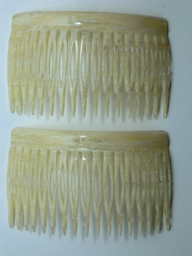 Charles J. Wahba Medium French Side Comb Pairs - Bone by Charles J. Wahba