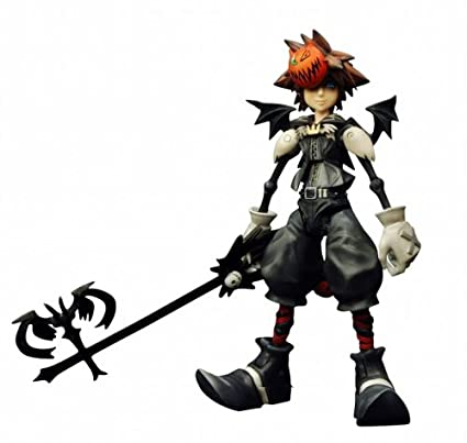 Kingdom Hearts Sora Halloween Town Costume.Kingdom Hearts 2 Play Arts Halloween Town Sora Figure
