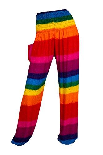 Pantalones harén–ALADDIN pantalones de Hippie con 18Diferentes diseños Abstract Colours