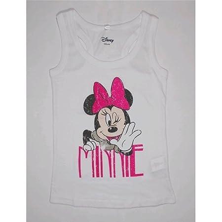 Débardeur T-shirt Minnie Summer fille 10/12/14ans–en6132 9-10 years bianco DISNEY