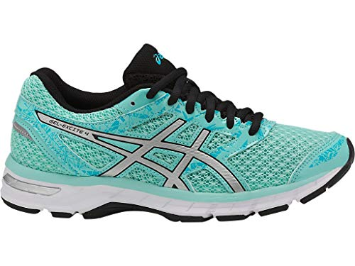 ASICS Women's Gel-Excite 4 Running Shoes, 9M, Aruba Blue/Silver/Aquarium Athletic Shoes For Flat Feet