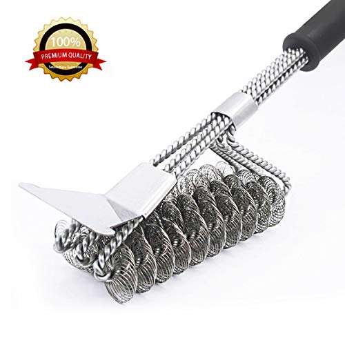 MOORAY Grill Brushes, Cleanning Scraper,Bristle Free Clean Grill Brush,Rust Resistant Stainless Steel Barbecue Brush