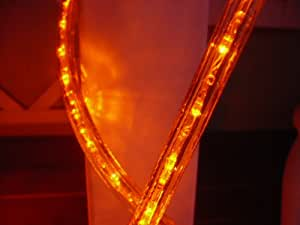 10FT ORANGE 3 WIRE CHASING LED ROPE LIGHT KIT. CHRISTMAS LIGHTING. OUTDOOR ROPE LIGHTING