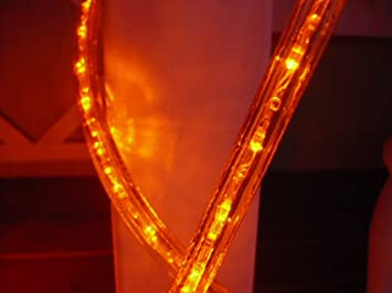 Amazon 25ft rope lights 3wires orange chasing led rope light 25ft rope lights 3wires orange chasing led rope light kit christmas lighting outdoor aloadofball Image collections