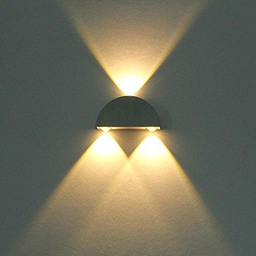 3W LED Wandleuchte, GOCHANGE Wandlampe mit Halbkreis Design, Wasserdichte LED Wandbeleuchtung, 2800K Warmweiß Wandlicht für Wand, Veranda, Büro, Bars und Dekoration[Energieklasse A+]