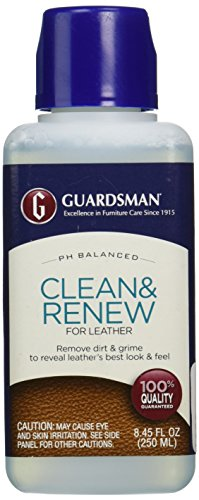 Guardsman Clean & Renew For Leather 8.45 oz - Removes Dirt and Grime, Great For Leather Furniture & Car Interiors - 470800 (Z Best Leather Cleaner)