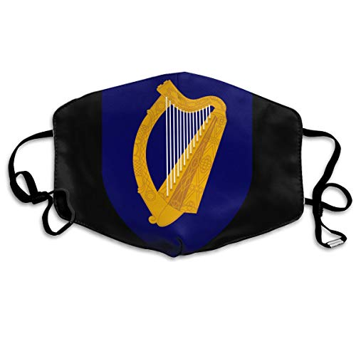 SyjTZmopre Coat of Arms of Ireland Mouth Mask Unisex Printed Fashion Face Anti-dust -