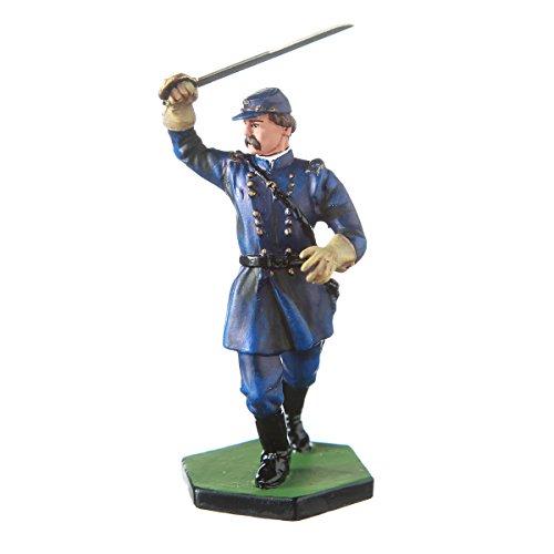 danila-souvenirs Tin Toy Soldier USA Civil war Northerners General Joshua L. Chamberlain hand painted metal sculpture miniature figurine 54mm #CW21 Civil War Sculpture
