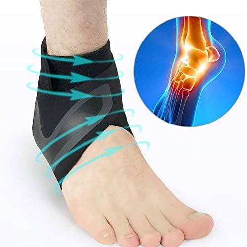 足首のサポート、調節可能な伸縮性のある素材、滑り止め、快適な足首ラップ、スポーツ、関節痛、捻挫疲労など、足首の捻挫の防止と治療の手助けをする不安定性足根管 (Size : XL)