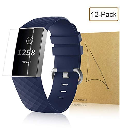 Migkin Screen Protector Compatible with Fitbit Charge 3 and 3SE, Crystal  Clear Full Coverage TPU Anti-Bubble Film for Charge 3 Fitness Tracker