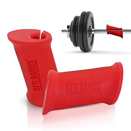 EZ Grips Turns Any Bar Into Easy Curl Bar - Fat Grip Weight Lifting Accessories for Standard, Olympic Barbell, Dumbell, Kettlebell - Ideal 17 Degree Angle Silicone Gripz Curl Bar Attachment Adapter by BFR BANDS