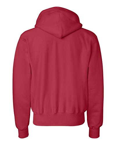 S101 Champion Adult Reverse Weave Hooded Pullover Fleece, Scarlet, XL