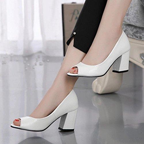 la Sangle Femmes Sandales Sandales Dérapant Talon trapu Découper Anti Toe Plate Forme Chaussures Sexy Peep Cheville wqExEUTI0r