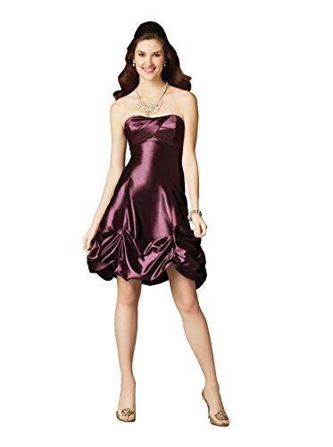 Alfred Angelo 7189 Strapless Short Pick-up Short Taffeta Formal Dress (12, Wild (Alfred Angelo Formal Dress)