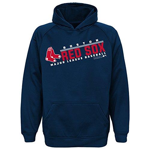 MLB Youth 8-20 Red Sox performance hood, S(8), Athletic Navy Red Mlb Sweatshirt