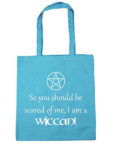 HippoWarehouse So You Should Be Angst Of Me, I Bin Ein Wicca! Einkaufstasche Fitnessstudio Strandtasche 42cm x38cm, 10 liter - Surfen Blau, One size