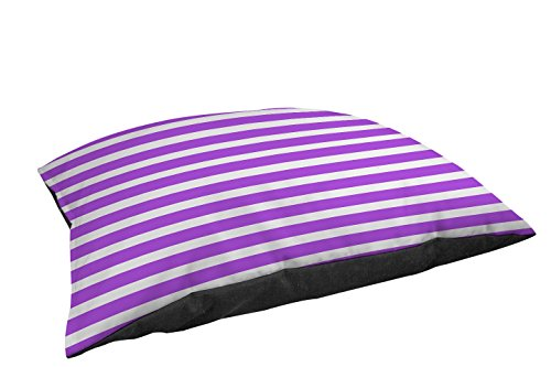 Manual Woodworkers & Weavers Fleece Top Toy or Small Breed Pet Bed, Bright Stripes Purple Weaver Stripe