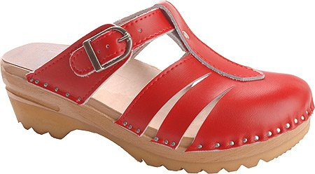 Troentorp Bastad Clogs Women's Mary Jane Slip-on Shoes,Red,EU 38 M by Troentorp Bastad Clogs