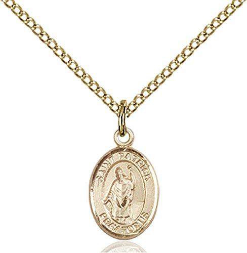 Patron Saints by Bliss 14K Gold Filled Saint Patrick Petite Charm Medal, 1/2 -