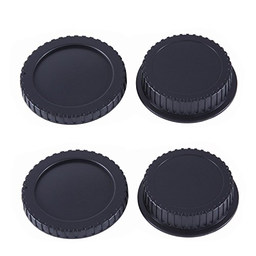 (2 Pack - Movo Lens Mount Cap and Body Cap for Pentax DSLR Camera - (4 Caps))
