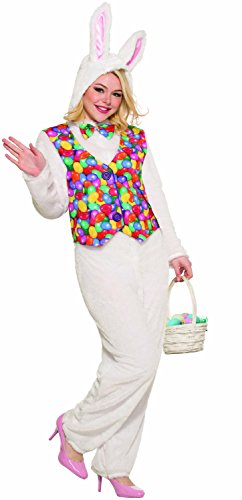 Easter Bunny Outfit (Forum Novelties Unisex-Adult's Standard Easter Bunny Jumpsuit with Vest, as as Shown,)