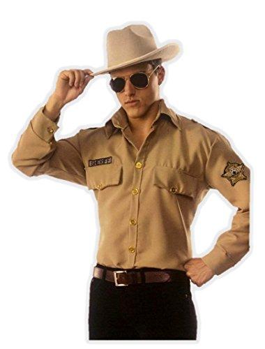 Sheriff Costume (Men's Texan Highway Patrol Sheriff Shirt Costume Large 42-46)