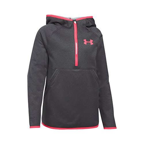 - Under Armour Girls' Armour Fleece 1/2 Zip Hoodie, Carbon Heather (090)/Pink Chroma, Youth Large