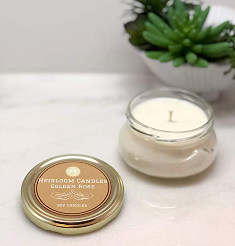Golden Rose Scented Soy Candle, ()