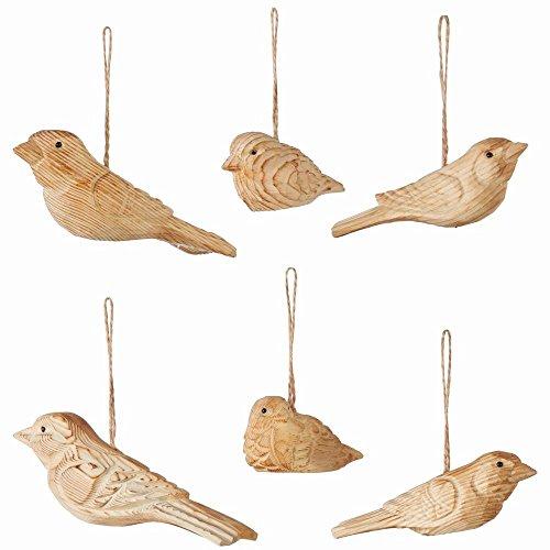 - Napa Home & Garden Wooden Bird Ornaments, Set of 6