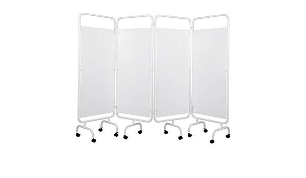 Viva Medi - Pantalla de privacidad médica de cuatro paneles de PVC: Amazon.es: Salud y cuidado personal