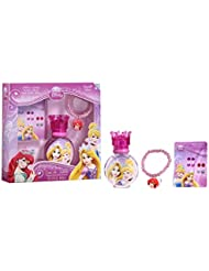 Disney for Kids Eau de Toilette Spray, 3 Piece Gift Set, Princess, Stick On Earrings & Bracelet