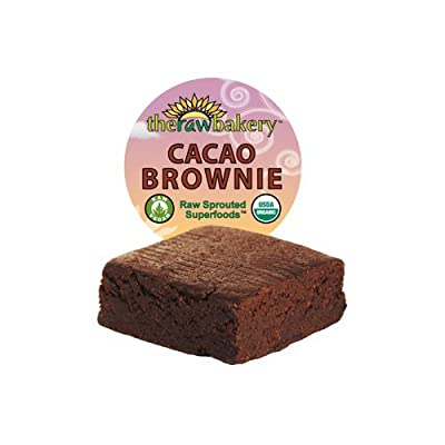 Blue Mountain Organics, Raw, Vegan, Organic Simply Cacao Brownie, Pack of 3 (7.2 oz)