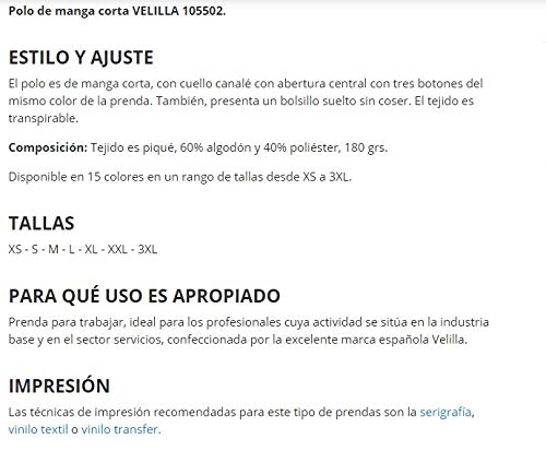 Velilla Serie 105502/C8/TM Polo de manga corta, Gris, M: Amazon.es ...