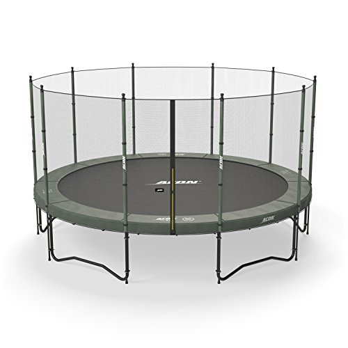 Acon Air 4.6 Trampoline 15′ with Enclosure | Includes 15ft Round Trampoline and Safety Net | 110 Heavy Duty 8.5″ Springs For Sale